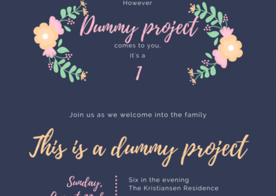 Dummy Project 1