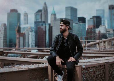 architecture-black-leather-jacket-brooklyn-bridge-1182825